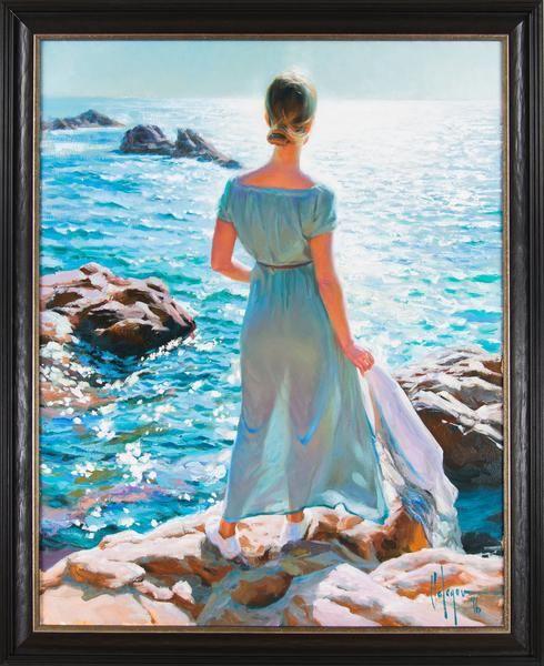 Denna tavla av Vladimir Volegov finns att köpa hos oss på Galleri Melefors / is available for purchase at Galleri Melefors #vladimirvolegov #volegov #art #interiordesign #design #decoration #home #painting #oil #artist #woman #beautiful #colors #blue #forsale #sea #water #light #konst #dekoration #interiör #hemma #inredning #tavla #målning #olja #kvinna #färger #blå #vatten #hav #vacker #tillsalu #köp #gallerimelefors #melefors