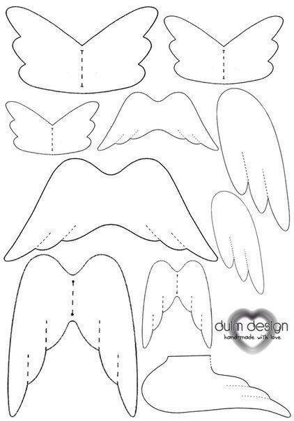 Moldes para hacer alas de angeles en tela. Related Post Extraterrestres de fieltro con moldes para imprimi... Como hacer una bolsa de yute para niñas Moldes para hacer cubos de papel romanticos Patrones para crear unas muñecas en miniatura de ...