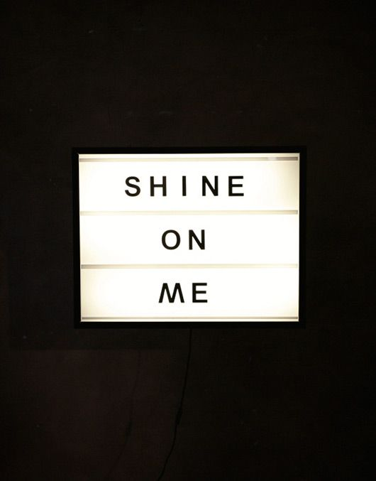 amazing backlit light boxes with changeable letters, or 'Bxxlght' founded by Daniela Upmark.