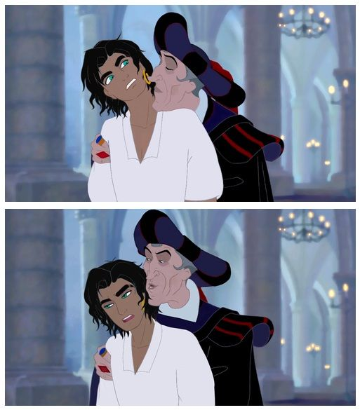 Esmeralda genderbend with gay Frollo by esmeraldo