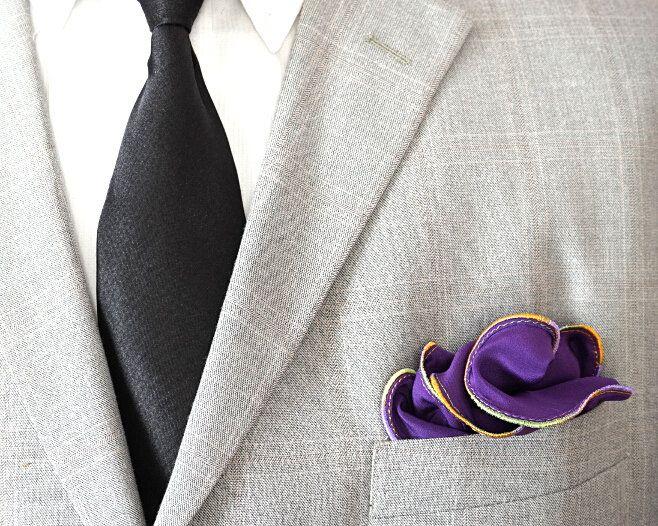 Mens Silk Pocket Square - teal hats by VIDA VIDA r2xBmya1