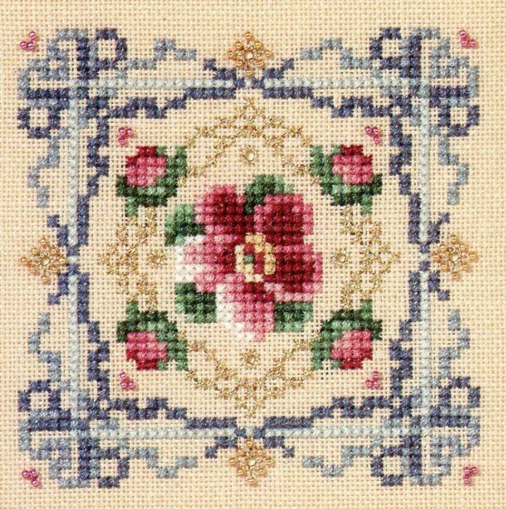"""Just+Nan+NEW+""""Victorian+Floral""""+PATTERN+-+c1996+-+floral+sampler+#JustNan"""