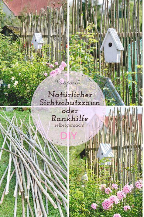 Natürlicher Sichtschutzzaun oder selbstgemachtes Geschirr, ein DIY #Gartenprojekt …   – garten