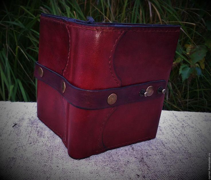 Купить Мужской бумажник-портмоне - бордовый, портмоне, портмоне из кожи, портмоне ручной работы