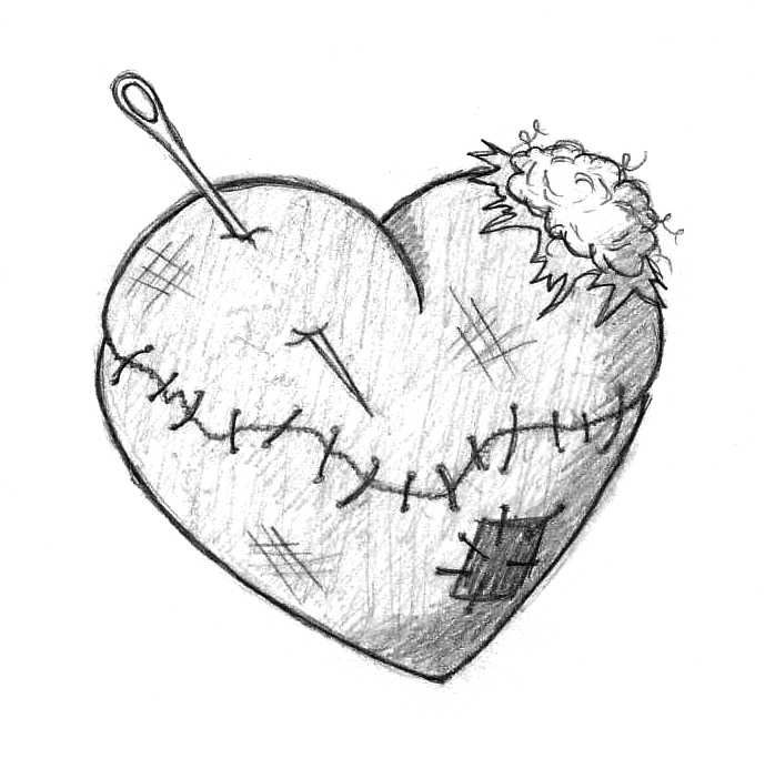 Emo Broken Heart Drawings Mend my broken heart by
