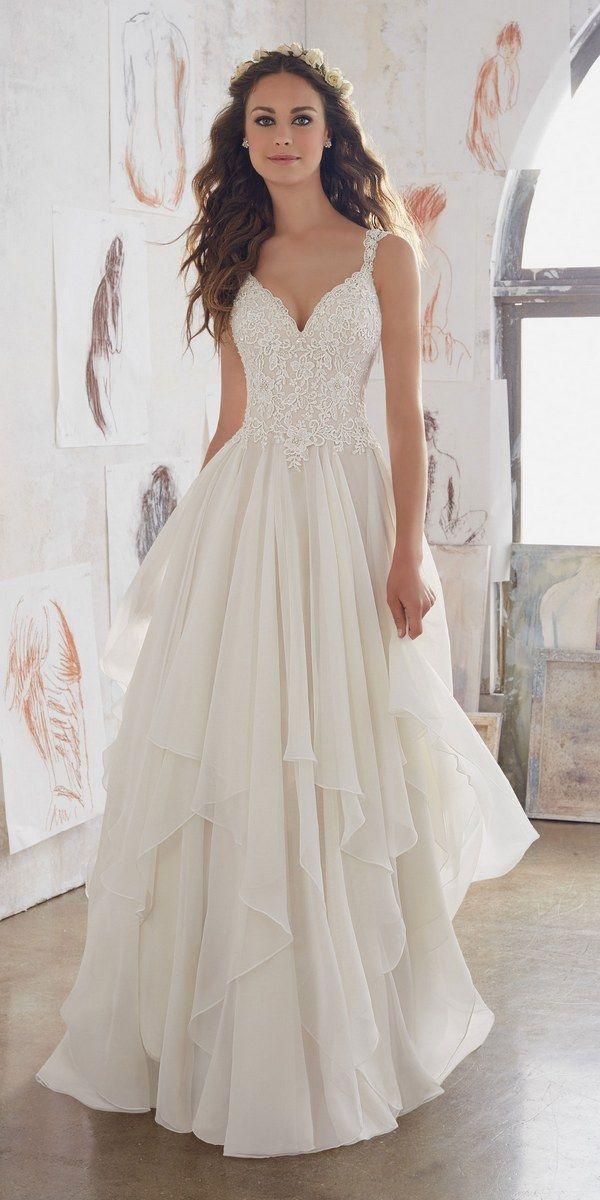 Morilee by Madeline Gardner - Blu Wedding Dresses 2017 / http://www.deerpearlflowers.com/morilee-by-madeline-gardners-blu-wedding-dresses-collection/