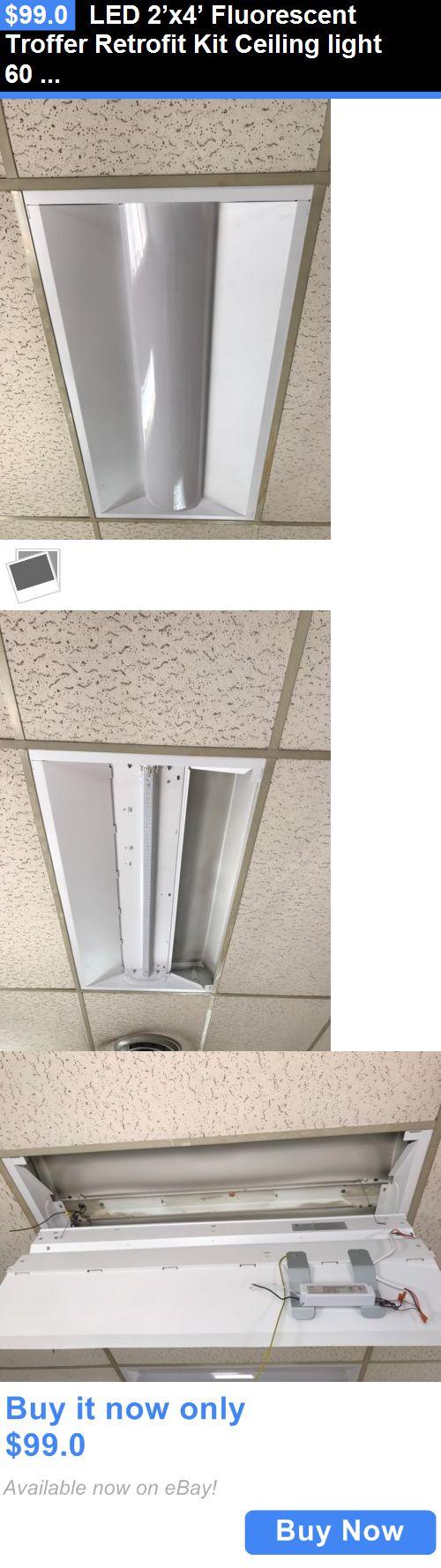 9 best led high bay light images on pinterest bay lights high bay business commercial led 2x4 fluorescent troffer retrofit kit ceiling light 60 watt mozeypictures Choice Image