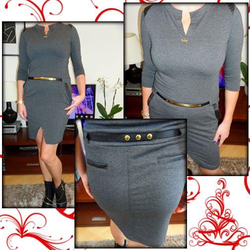 A dzisiaj coś dla miłośniczek eleganckich stylizacji. Unikalna sukienka ze złotym paskiem to wręcz idealna propozycja na uroczystą kolację, Boże Narodzenie i Sylwestra. http://allegro.pl/new-unikalna-sukienka-zloty-pasek-sexi-look-szara-i4853353710.html Świetnie podkreśla figurę, a wstawki z eko skóry i ozdobne aplikacje nadają wyjątkowego charakteru. POLECAMY!   http://allegro.pl/listing/user/listing.php?us_id=34897766