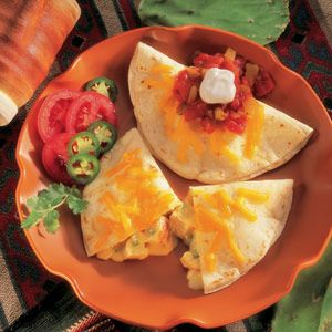 Using canned chicken and cream of chicken soup allows you to get these delicious quesadillas on the table in less than 30 minutes!