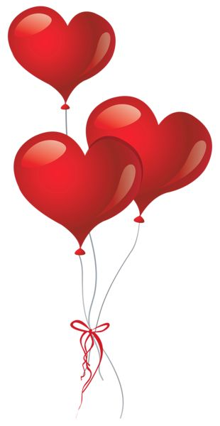 Heart Balloons PNG Clipart Picture