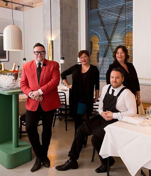 Jason Jones, Philippa Sibley, Ruth Giffney and Simon Leverett at Prix Fixe, Melbourne.