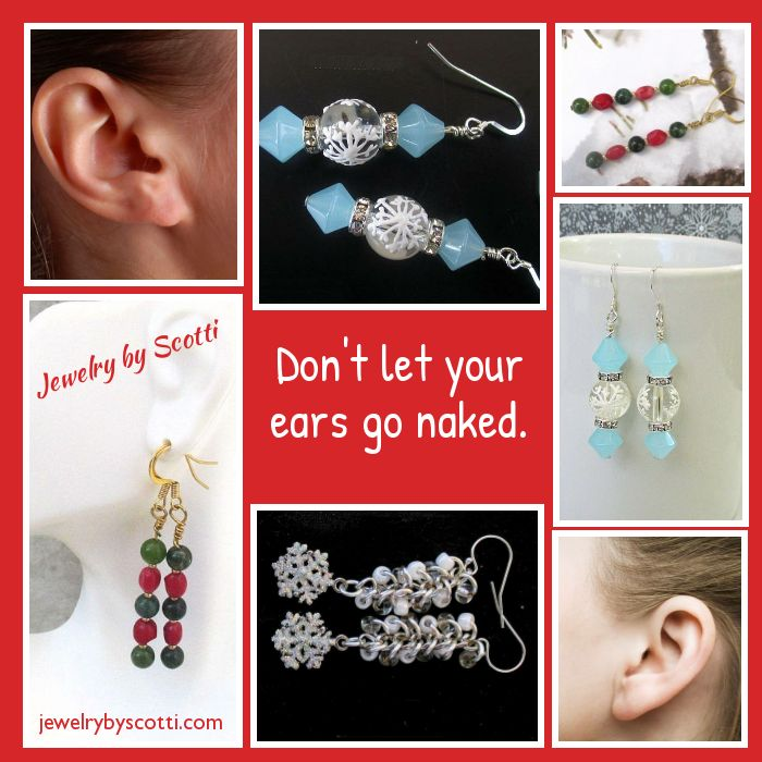 Dress up your ears for the holidays! Shop Jewelry by Scotti now:https://small.bz/AAn4bi9https://www.etsy.com/shop/JewelryByScotti #handmadeearrings #christmasearrings #christmasjewelry #holidayearrings #holidayjewelry #handmadejewelry