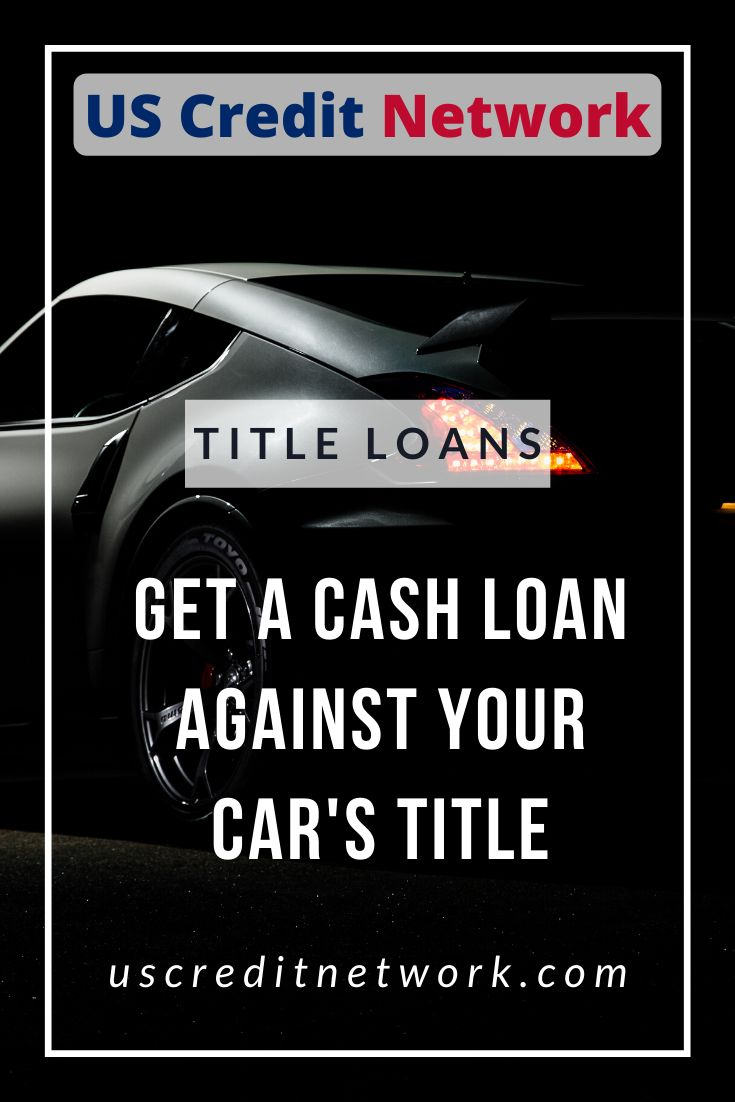A car title loan is possibly the best option out there to