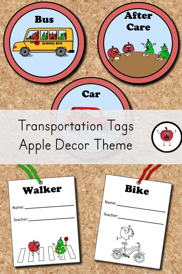 These transportation tags can help you keep dismissal time organized. The set includes a clip chart to post how each student will get home. The set also includes smaller tags that can be attached to backpacks or worn on the child's clothing during the first week of school. The smaller tags have been provided in both color and black and white. #classroomdecor #kindergarten #FIRSTGRADE  #dismissal #teachersfollowteachers #teachers #teacherspayteacher