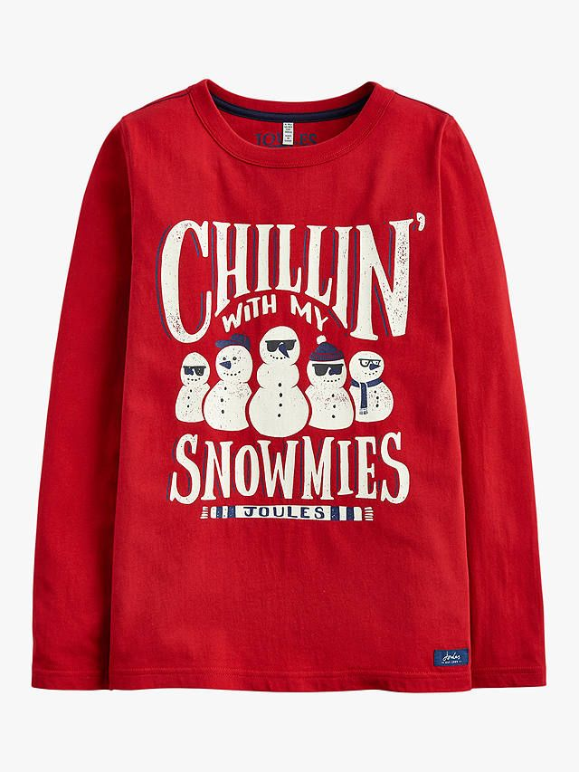 3bb34f28d BuyLittle Joule Boys' Snowmies Print T-Shirt, Red, 3 years Online at  johnlewis.com