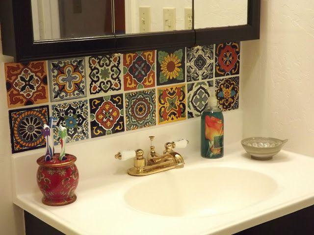 Dusty Coyote: Mexican Tile Kitchen Backsplash DIY