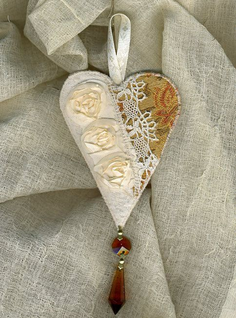 shabby chic heart laces