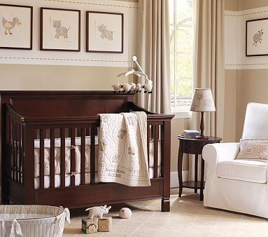 Love the way the walls are painted... that would be an easy way to spruce up the walls in a kids bedroom!