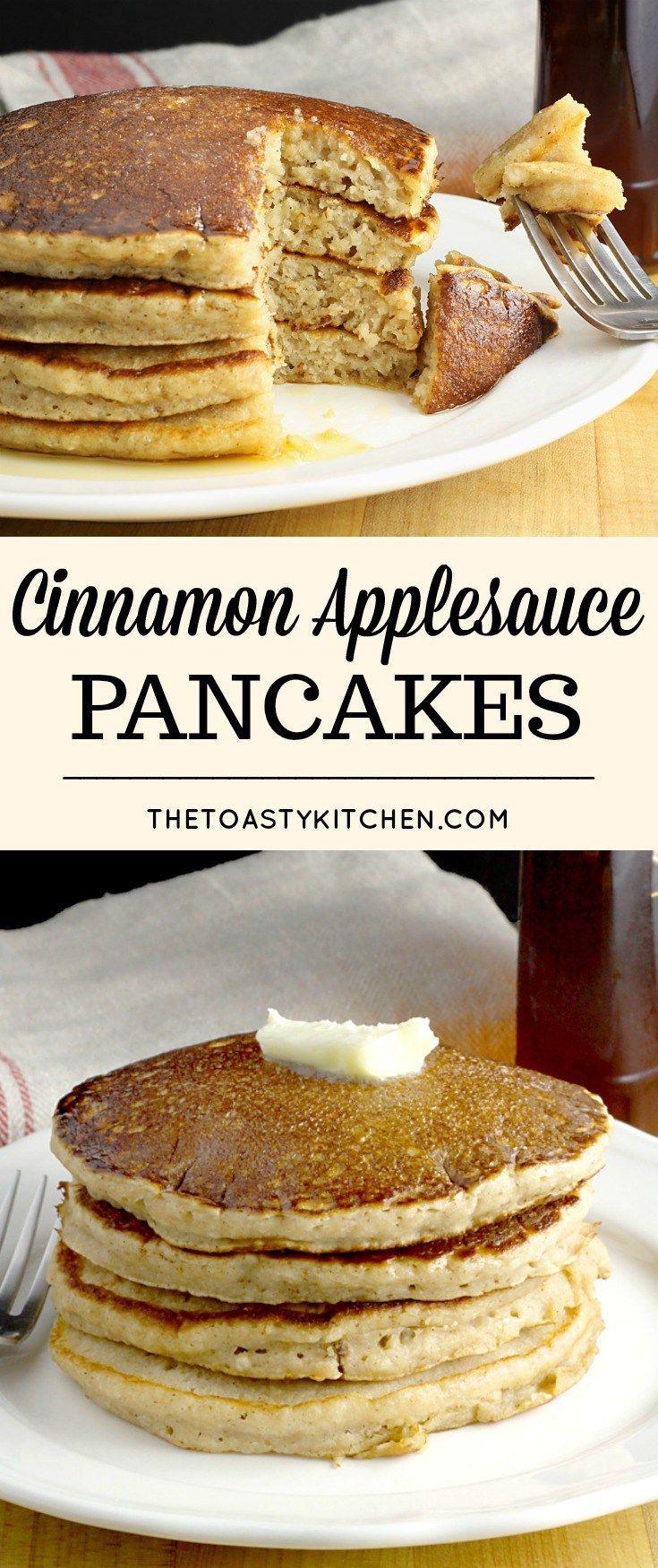 Cinnamon Applesauce Pancakes by The Toasty Kitchen