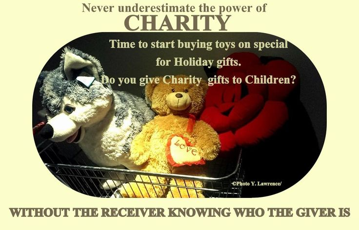 Never underestimate the power of charity