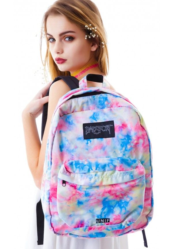 """Dolls Kill is a hot, edgy teen ecommerce site. They may have some ideas for us. This is a slam on Jansport - a """"Badsport"""". Tie die could be cool for a hippy dippy skin."""