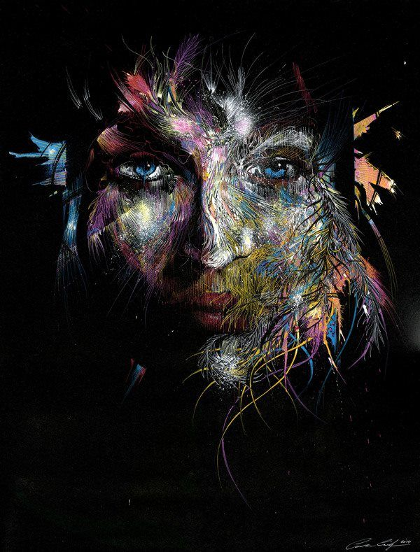 Back in Black, illustration by Carne Griffiths #artpeople