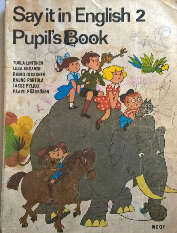 Englannin kielen kirja 1970 luvulta.