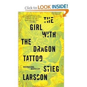The first of the Stieg Larsson trilogy;  we read it for our book club and I couldn't put it down.  I've seen the European movie and thought they did a good job of keeping with the book.  Have yet to read 2 and 3.  Can't wait!