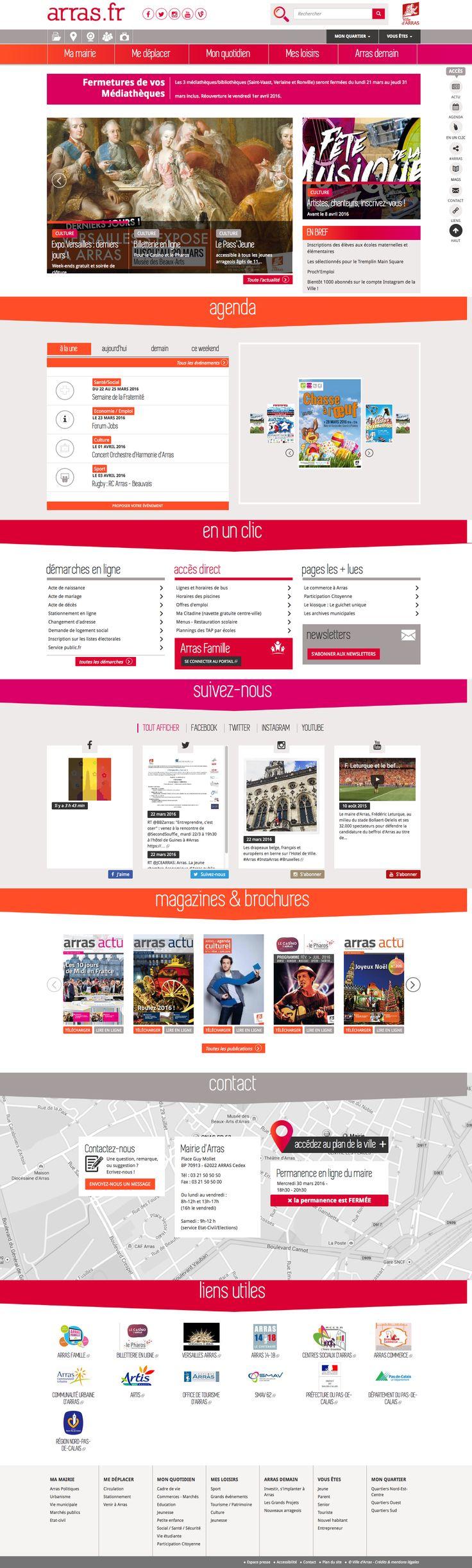Nouvelle version du #siteweb de la ville d'Arras. >> https: