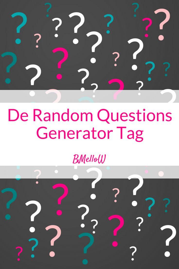 De Random Questions Generator Tag. Via een generator krijg je verschillende willekeurige vragen. Benieuwd naar de vragen en wat ik heb geantwoord?