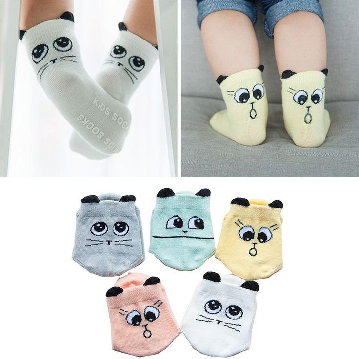 Toddler sock Baby Boy Girl Socks anti slip Cute Cartoon Cat Ear Skid Resistance leg warmers For newborns infantile 2016 Newborn //Price: €2 & FREE Shipping //   #fashion #baby #clothes #trendy #2017