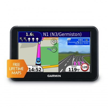 Providing a complete navigation solution and an easy-to-use user interface, the nüvi 50 navigates you safely to your required destination. It features an extra wide 12.7 cm colour touchscreen display, text-to-speech and is supplied with preloaded Garmin City Navigator Southern Africa maps with 1FREE Lifetime Map updates. Simply look up addresses or services and get voice-prompted, turn-by-turn directions that pronounce street names to your destination.