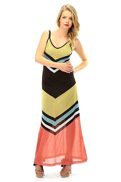 Kocca - Abiti - Abbigliamento - Maxi abito con sottoveste in maglina di viscosa con scollo a V. Stampa con disegni geometrici. - F4009 - € 142.00