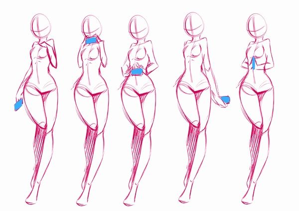 600x424 Anime Female Body Template Beautiful Anime Drawing Templates