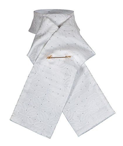 From 9.99 Shires Equestrian Ready Tied Brocade Stock - White Large