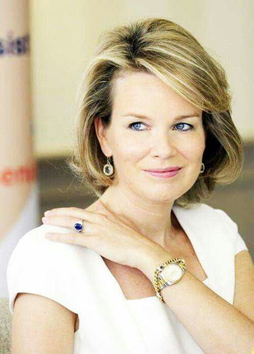 Queen Mathilde of Belgium.