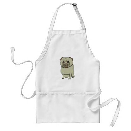 Pug Adult Apron - kitchen gifts diy ideas decor special unique individual customized