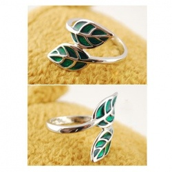 Corean Fashion and Unique Style Leaves Shape Finger Ring (GREEN) China Wholesale - Sammydress.com