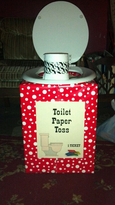 Toilet Paper Toss Game For Carnival Birthday Party Made