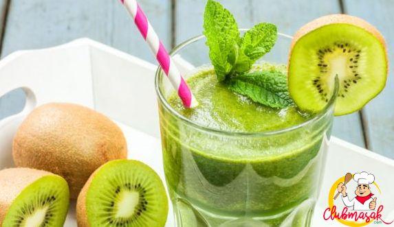 Resep Hidangan Buah, Shake Kiwi, Minuman Sehat Untuk Diet, Club Masak