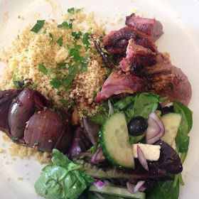Home made harissa lamb with cous cous