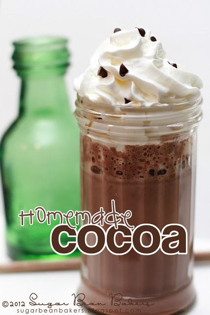 Homemade Hot Chocolate/Cocoa. No mixes here, just a few basic ingredients.