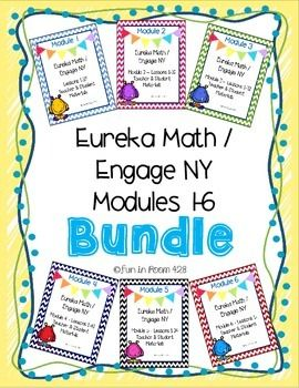 All the kindergarten module materials that you will need for Engage New York and Eureka Math are together in a bundle! Get them together or individually in my store. For more information on the items in each module, click on the download preview button in each individual module.
