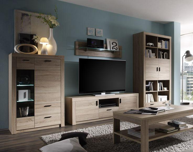25+ best ideas about wohnwand eiche on pinterest | dunkelgraue ...