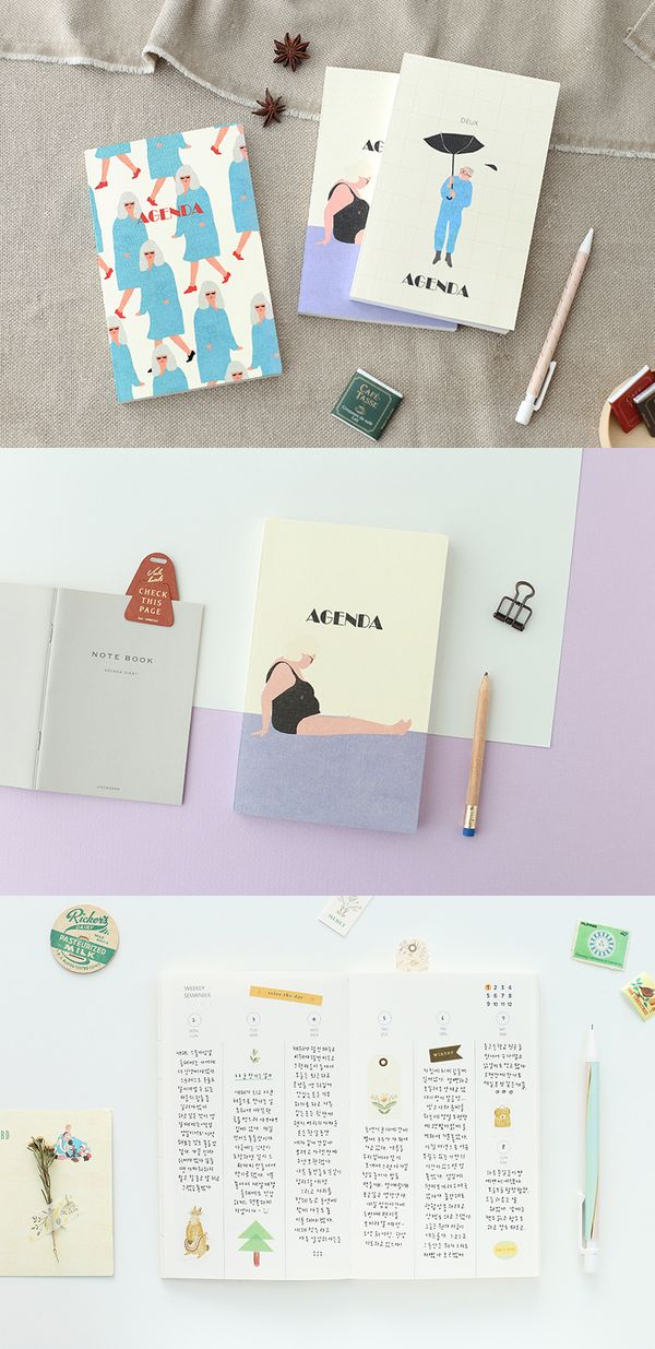 The quirky cover art always make this scheduler stand out among my other planners or notebooks! The Mon Petit Agenda Scheduler is a cute dateless planner that I can start using at any time of the year!