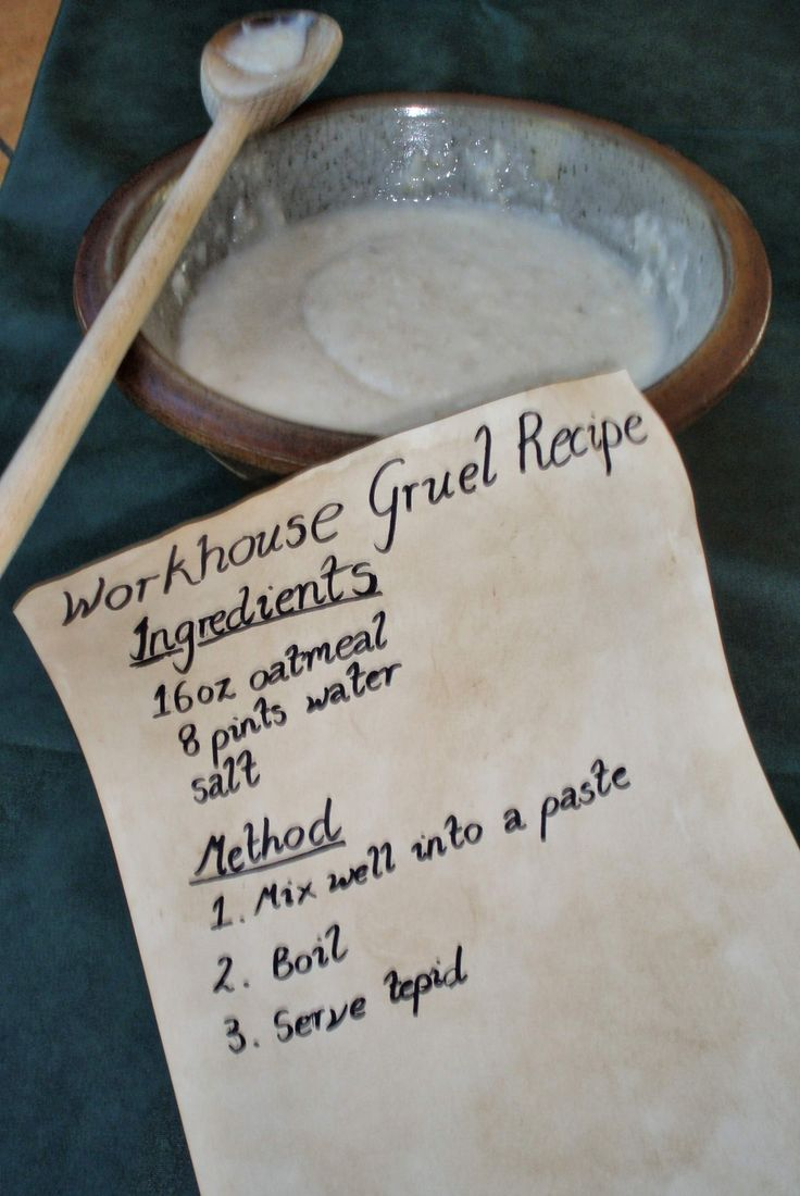 Workhouse Gruel