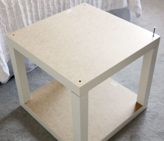 IKEA Lack hack side table - combine the two tables and paint with chalkboard paint for a side table for the living room