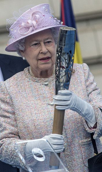 The Queen at the 2014 Commonwealth Games Baton Relay launch ceremony at Buckingham Palace 9 Oct 2013