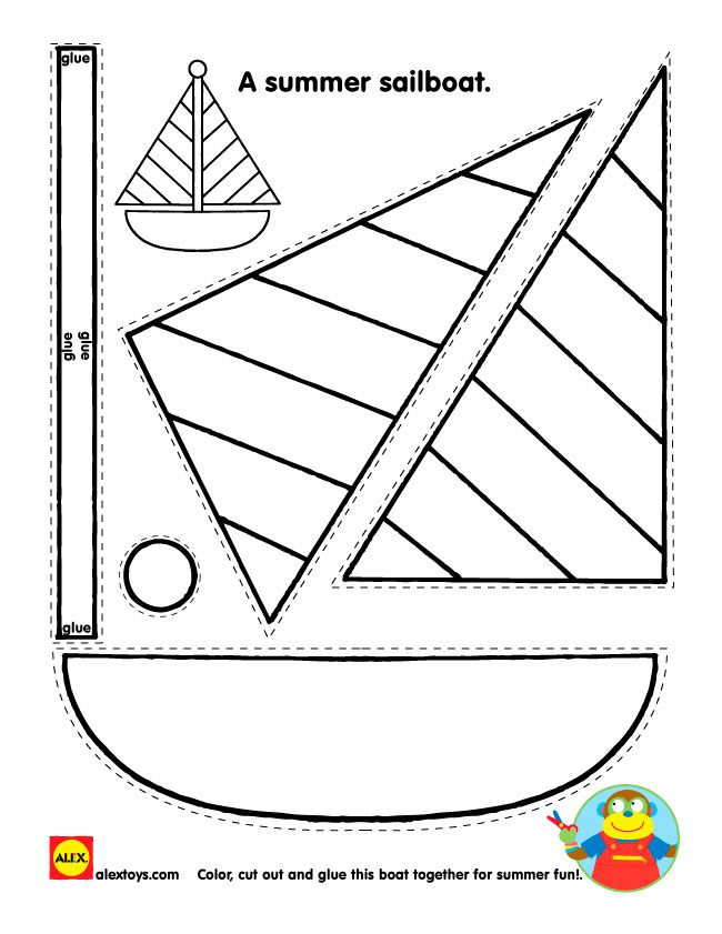 #Free #Printable activity sheet #kids #Craft from #Alextoys - cut and create a sailboat | alextoys.com