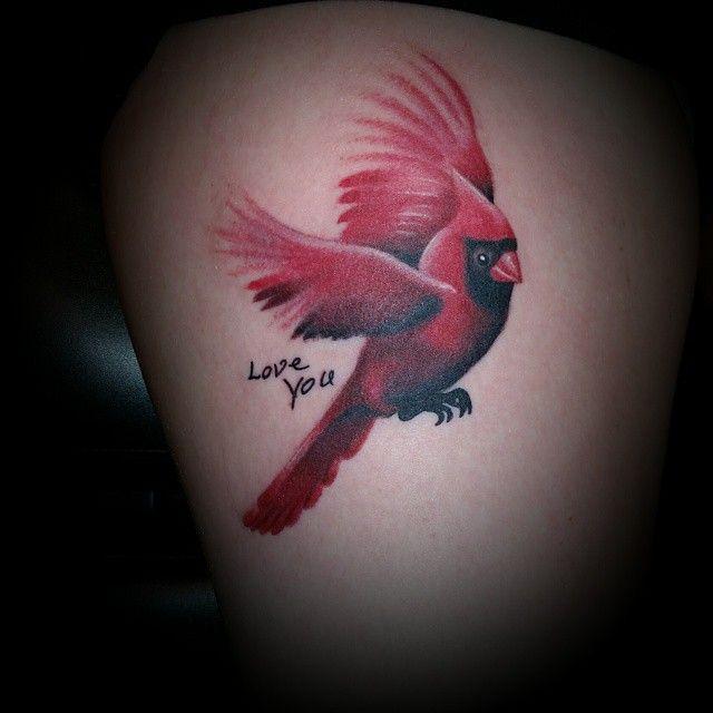 #attitudesink #tattoo #birdtattoo #cardinal #cardinaltattoo